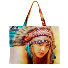 Indian 14 Zipper Mini Tote Bag by indianwarrior