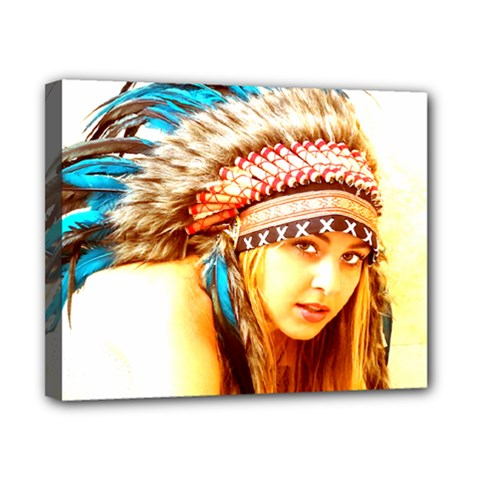 Indian 12 Canvas 10  X 8  by indianwarrior