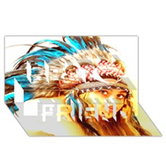Indian 12 Best Friends 3d Greeting Card (8x4)  by indianwarrior