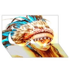 Indian 12 Twin Hearts 3d Greeting Card (8x4)  by indianwarrior