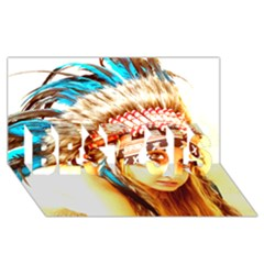 Indian 12 Best Sis 3d Greeting Card (8x4)