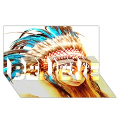 Indian 12 Believe 3d Greeting Card (8x4)  by indianwarrior