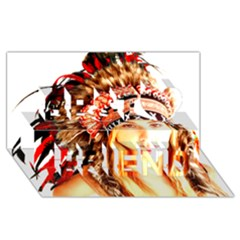 Indian 3 Best Friends 3d Greeting Card (8x4)  by indianwarrior