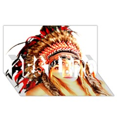 Indian 3 Best Bro 3d Greeting Card (8x4)  by indianwarrior