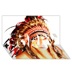 Indian 3 Sorry 3d Greeting Card (8x4)  by indianwarrior