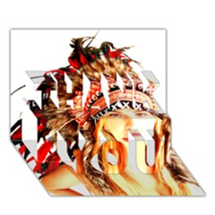 Indian 3 Thank You 3d Greeting Card (7x5)  by indianwarrior