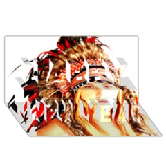 Indian 3 Happy New Year 3d Greeting Card (8x4)  by indianwarrior
