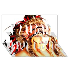 Indian 3 Laugh Live Love 3d Greeting Card (8x4)  by indianwarrior