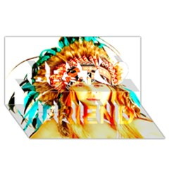 Indian 29 Best Friends 3d Greeting Card (8x4)  by indianwarrior