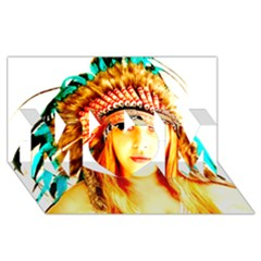 Indian 29 Mom 3d Greeting Card (8x4)  by indianwarrior