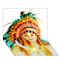 Indian 29 Circle Bottom 3d Greeting Card (7x5)  by indianwarrior