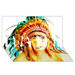 Indian 29 Best Bro 3d Greeting Card (8x4)  by indianwarrior