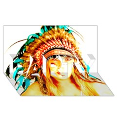 Indian 29 Party 3d Greeting Card (8x4)  by indianwarrior