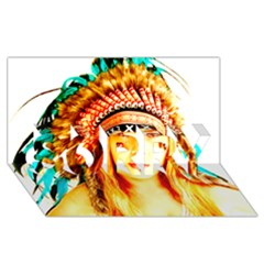 Indian 29 Sorry 3d Greeting Card (8x4)  by indianwarrior