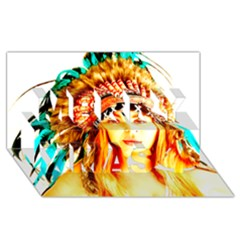 Indian 29 Merry Xmas 3d Greeting Card (8x4)  by indianwarrior