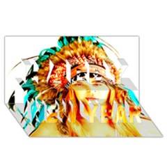Indian 29 Happy New Year 3d Greeting Card (8x4)  by indianwarrior