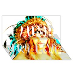 Indian 29 Laugh Live Love 3d Greeting Card (8x4)  by indianwarrior