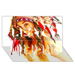 Indian 26 Best Friends 3d Greeting Card (8x4)  by indianwarrior
