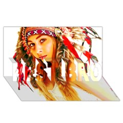Indian 26 Best Bro 3d Greeting Card (8x4)  by indianwarrior