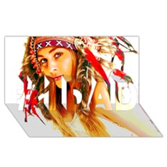 Indian 26 #1 Dad 3d Greeting Card (8x4)  by indianwarrior
