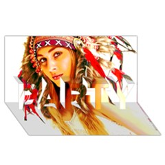 Indian 26 Party 3d Greeting Card (8x4)