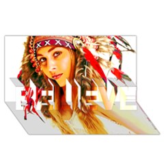 Indian 26 Believe 3d Greeting Card (8x4)  by indianwarrior