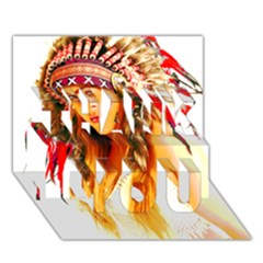 Indian 26 Thank You 3d Greeting Card (7x5)
