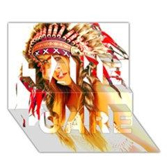 Indian 26 Take Care 3d Greeting Card (7x5)  by indianwarrior