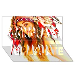 Indian 26 Congrats Graduate 3d Greeting Card (8x4)  by indianwarrior