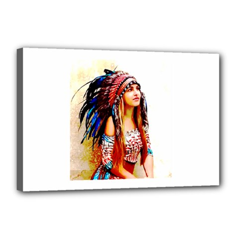 Indian 22 Canvas 18  X 12  by indianwarrior