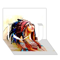 Indian 22 I Love You 3d Greeting Card (7x5)
