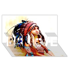 Indian 22 Believe 3d Greeting Card (8x4)  by indianwarrior