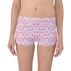 Soft Pink Damask Pattern Boyleg Bikini Bottoms by Zandiepants