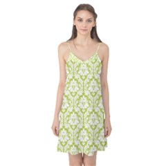 Spring Green Damask Pattern Camis Nightgown