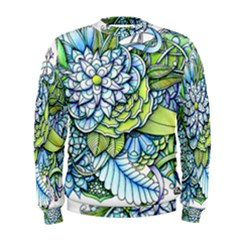 Peaceful Flower Garden Men s Sweatshirt