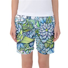 Peaceful Flower Garden Women s Basketball Shorts by Zandiepants