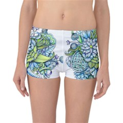 Peaceful Flower Garden Reversible Boyleg Bikini Bottoms by Zandiepants