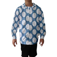 Blue Polkadot Hooded Wind Breaker (kids) by Zandiepants