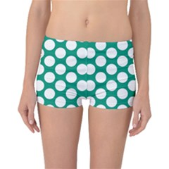 Emerald Green Polkadot Boyleg Bikini Bottoms by Zandiepants