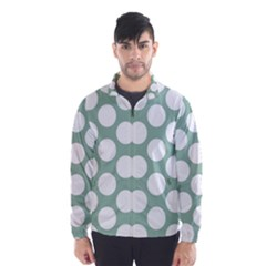 Jade Green Polkadot Wind Breaker (men) by Zandiepants