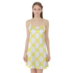 Yellow Polkadot Satin Night Slip by Zandiepants