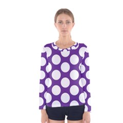 Purple Polkadot Women s Long Sleeve Tee by Zandiepants