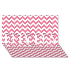 Pink And White Zigzag Best Bro 3d Greeting Card (8x4)  by Zandiepants