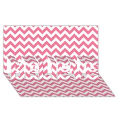 Pink And White Zigzag Believe 3d Greeting Card (8x4)  by Zandiepants