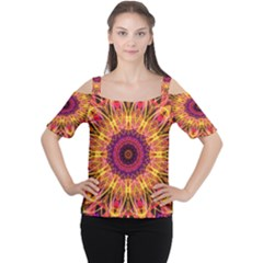 Gemstone Dream Women s Cutout Shoulder Tee by Zandiepants