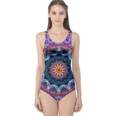 Purple Lotus One Piece Swimsuit