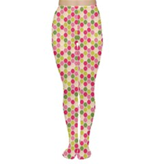 Pink Green Beehive Pattern Women s Tights by Zandiepants