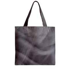 Gray Fog Zipper Grocery Tote Bag by timelessartoncanvas