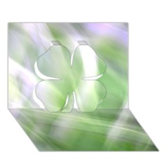 Green And Purple Fog Clover 3d Greeting Card (7x5)  by timelessartoncanvas