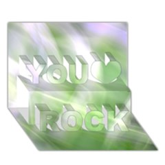Green And Purple Fog You Rock 3d Greeting Card (7x5)